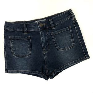 Free People High Rise Patch Pocket Jean Shorts EUC
